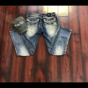 Miss Me Jeans Cuffed Skinny Jeans